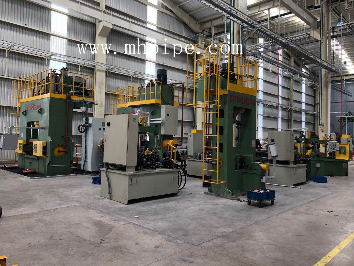 copper elbow machine, copper tee machine and beveling machine finished installation and commissioning in our Mexico customer